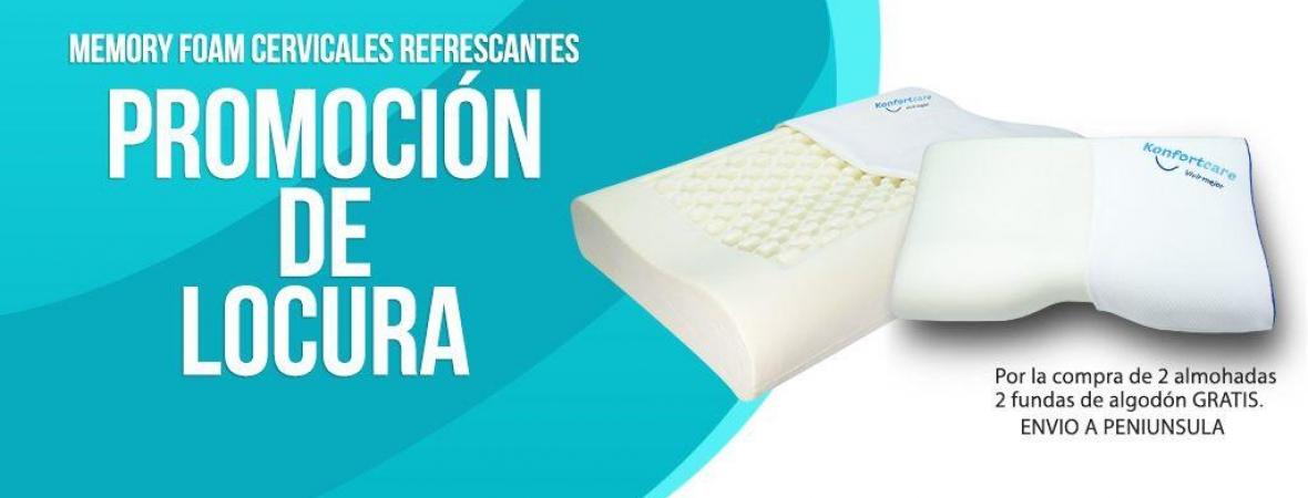 almohada Memory Foam. para cervicales - Terapéutica